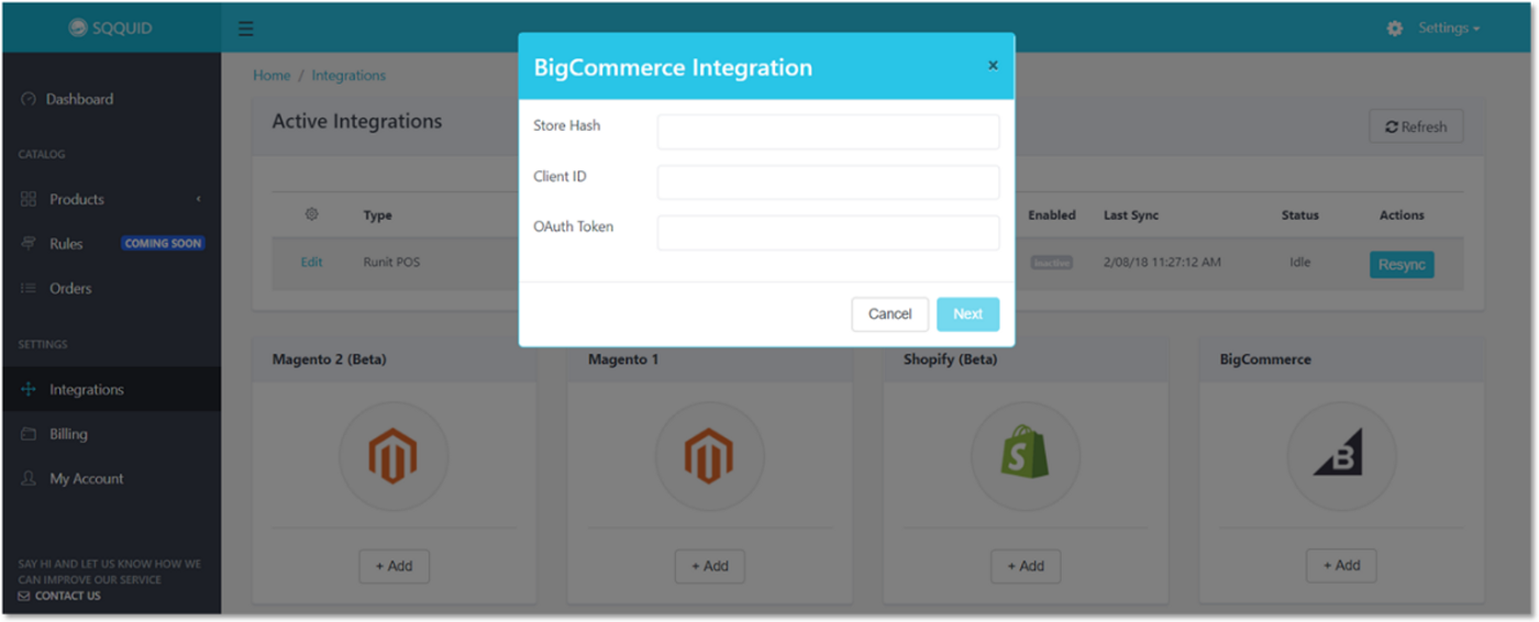 Bigcommerce integration is now available on SQQUID